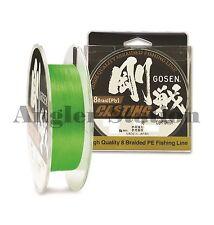 Gosen W8 Casting 8 Braid (Ply) #2.0/35lb/150m Braided Fishing Line(Light Green)
