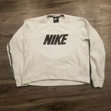 Nike Crop Sweater Women's Size Small Crewneck White Sweater EUC