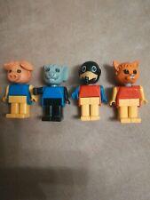 LEGO Bau- & Konstruktionsspielzeug LEGO 7 x Fabuland Figuren Affe Schaf Maus Katze Hund Elefant Vintage