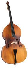Double Bass 3/4 String Student Beginner Satin Varnished Wood Set Case Bow Rosin
