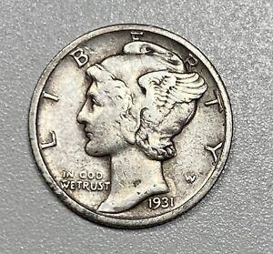 1931-D Mercury 10C Silver Dime