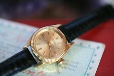 GENUINE LADIES ROLEX OYSTER PERPETUAL 18K GOLD WATCH 6619 + BOX + PAPERS RELOJ