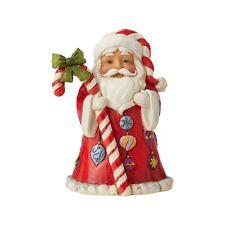New ListingJim Shore Heartwood Creek Santa With Candy Cane Mini Figure New 2020