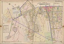 1910 MORRISTOWN, MORRIS COUNTY NEW JERSEY MT. ST. MICHAEL'S SANITORIUM ATLAS MAP