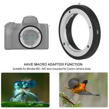 MD-EOS Lens Adapter Ring Macro Shooting for Minolta MD MC to for Canon EF Mount