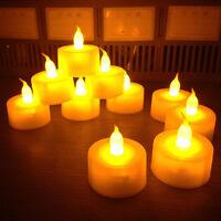 6 Flameless LED Tealight Flickering Tea Light Candles Wedding Christmas Battery