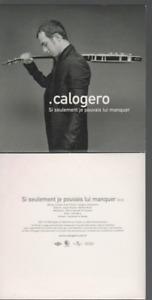 Calogero Si Seulement Je Pouvais Lui Manquer Cd Promo