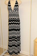 NWT La Blanca swimsuit bikini Cover Up Maxi Halter Dress Sz M Black