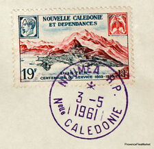 1961 CALEDONIE DC8  TAI NOUMEA  PARIS   Airmail Aviation premier vol AC31