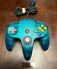 Nintendo 64 N64 Original OEM Ice Blue Controller 10/10 Original Joystick Tested