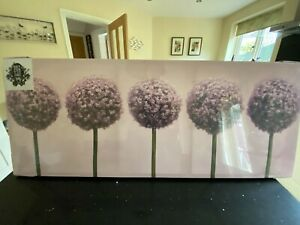 A Row of Alliums print. 100 x 40 cm print by 'Art for the Home'. Still wrapped