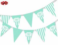 Happy 70th Mint Happy Birthday Anniversary Themed Bunting Banner by PARTY DECOR