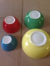 Vintage Pyrex Mixing Bowls Set Primary Colors Excellent