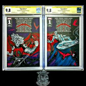 🔥 King In Black #1 CGC SS Original Sketch and sig. Connecting Pair Knull/Surfer