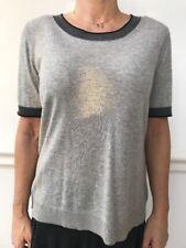 BASLER Grey Wool Short Sleeved Scoop Neck Soft Touch Pullover Jumper De 44 UK 18