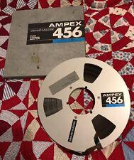 "10 1/2"" AMPEX GRND MASTER 456 AUDIO MOVIE FILM REEL + BOX ART THEATER DECOR"