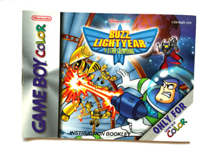 Buzz Lightyear of Star Command GameBoy Color Nintendo Instruction Manual Only