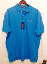 NWT Polo Ralph Lauren Mens Classic Mesh Short Sleeve Polo Shirt Sea Turquoise XL