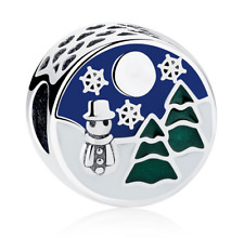 NEW European Snowman Christmas tree Pendant Charm Beads Fit Necklace Bracelet  !