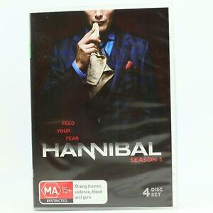 Hannibal Season 1 Mads Mikkelsen Laurence Fishburne DVD R4 GC Free Tracked Post