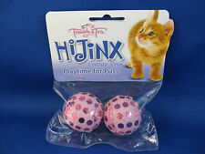 Cat Toy - Hi-Jinx Pale Pink Sequin Balls that Rattle - Set of 2