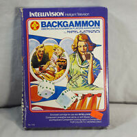 Complete In Box Intellivision Backgammon in protective sleeve GUARANTEED