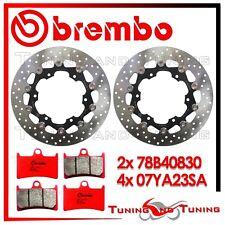 Dischi Freno Anteriore BREMBO + Pastiglie SA YAMAHA YZF R6 600 2000 2001 2002 02