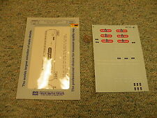 Microscale decals 87-350 Van gas and Olin Chemicals 40' tank cars  K101