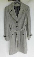 Principles Petite Ladies Coat Herringbone Belted Size 12 Used