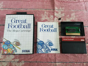 Great Football (Sega Master, 1987) - Authentic - Complete! CIB!