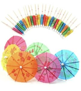 24 x Cocktail Umbrellas Party Drink Decoration Umbrella Birthday Wedding Novelty