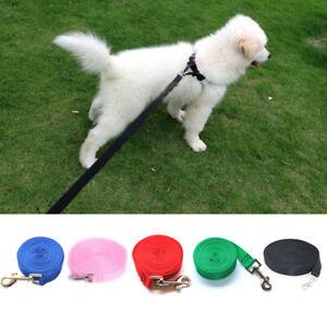 1.5/1.8/3/6/10m Pet Dog Long Lead Leash Nylon Rope Belt Strap Puppy Safety Train