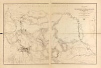 Map of Yellowstone & Missouri Rivers, Antique Map, 1859-1860