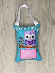 Owl Tooth Fairy Pillow Birthday Gift Keepsake Tooth Pocket Cushion