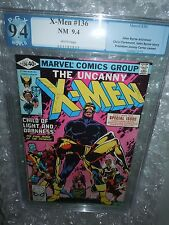 Uncanny X-Men #136 PGX 9.4 NM (Marvel Comics, 8/80) White pages Byrne cgc cbcs
