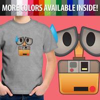 Wall-E Robot Cartoon Sweat Drop Disney Pixar Emoji Toddler Kid Tee Youth T-Shirt