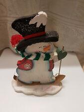 Alter Schneemann Weihnachten aus Holz !!! Aufsteller Deko