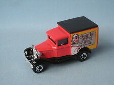 Matchbox MB-38 Ford Model A Van Prepro Chester Red Body Black Base