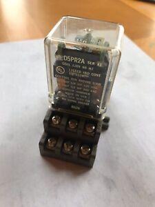 Cutler Hammer D5PR2A Relay 12 Amp, 120VAC, w/ D5PA1 Terminal Block, New