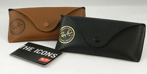 Ray Ban  Leather Sunglass Case Brown New