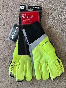 Craft Shield Warm/Wind/Waterproof Glove, Flumino/Black, Medium - NEW