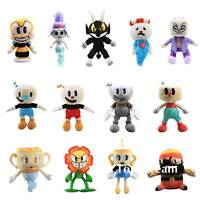 Hot Cuphead Mugman Ghost Chalice Devil Boss King Dice Plush Toy Stuffed Doll Toy