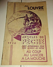 1936 ancien Catalogue articles de pêche au louvre 32 pages