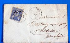 Type sage  sur enveloppe   obliteration LES PIEUX   1882 LAE1099