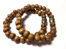 Shamballa Pine Wood 6 mm Buddha Face Bracelet Men's & Woman's - Design by Susie