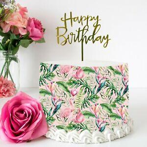 Tropical Flamingo Edible Icing Cake Wrap