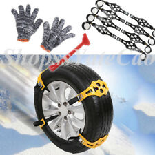 4pcs Easy Install Simple Winter Truck Car Gloves Snow Chain Tire Anti-skid Belt
