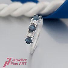 Ring - Saphir (Safir) und Diamanten (Diamant) ges. 0,08ct - 14K/585 Gelbgold