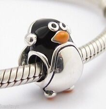 PENGUIN WINTER CHARM Bead Sterling Silver .925 for European Bracelet 777
