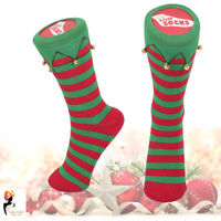 Silly Socks Christmas Warm Slipper Non Slip Elf Boots Office Home Novelty Party